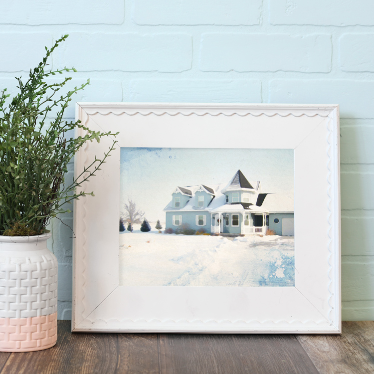 diy watercolor print of your house