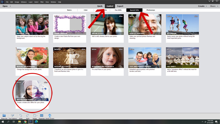 guided edits in photoshop