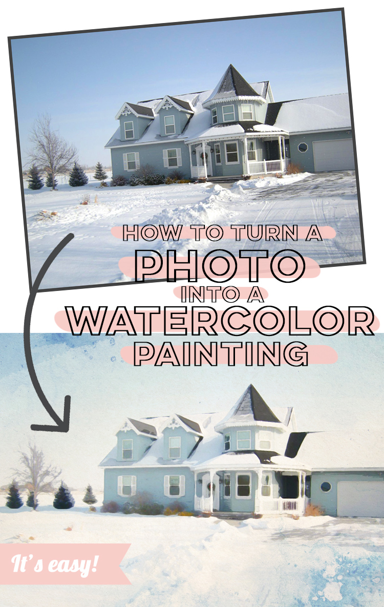 how to turn a photo into a watercolor painting