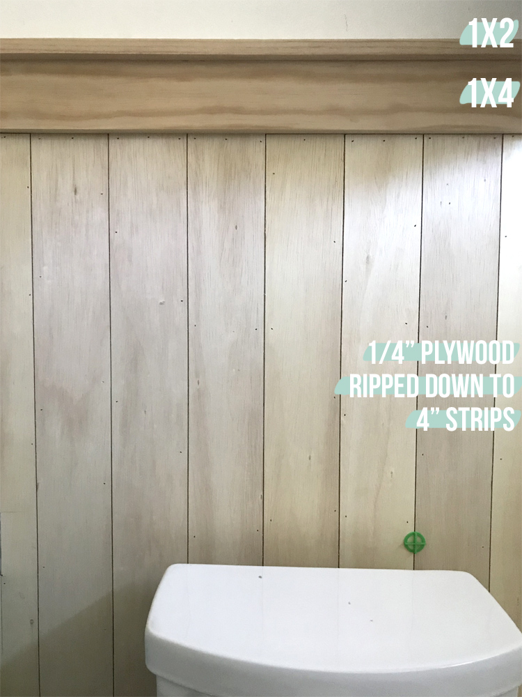 how to do vertical shiplap on the cheap