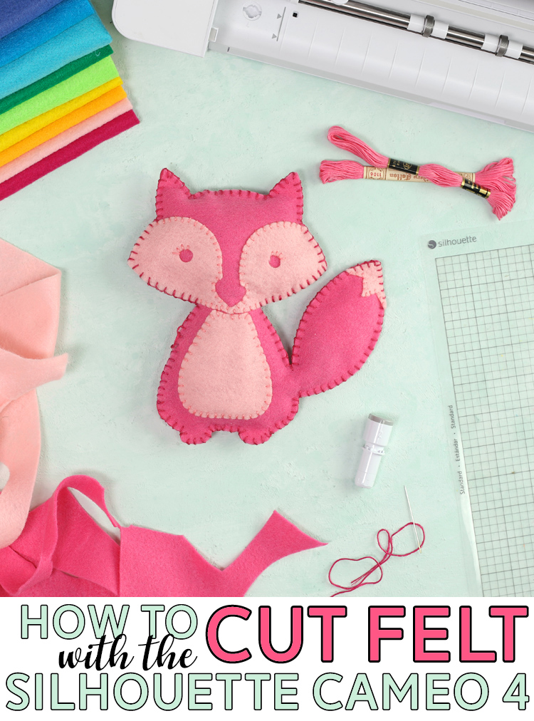 how to cut felt with the silhouette cameo 4