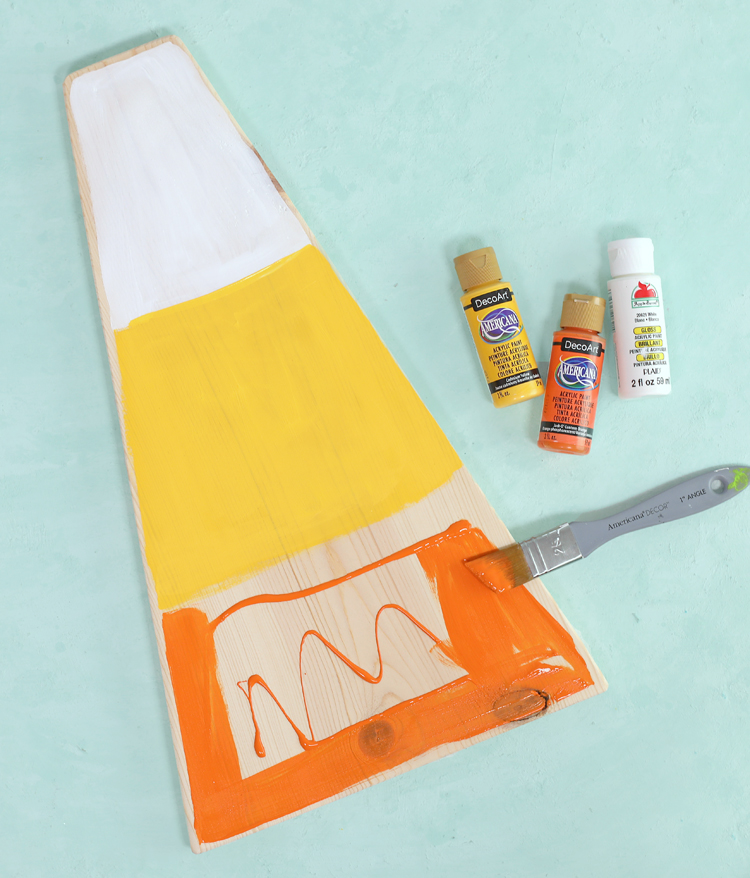 painting a candy corn