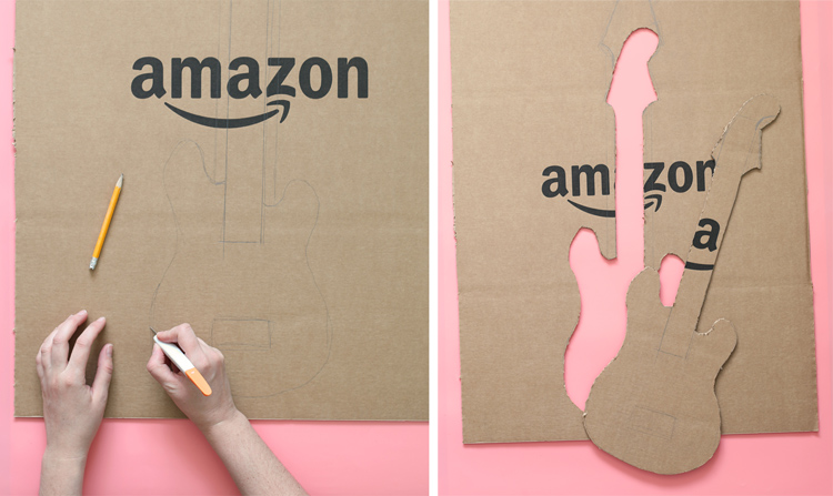 cardboard guitar costume