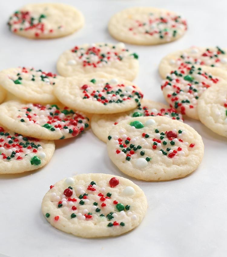 mini sugar cookies with sprinkles