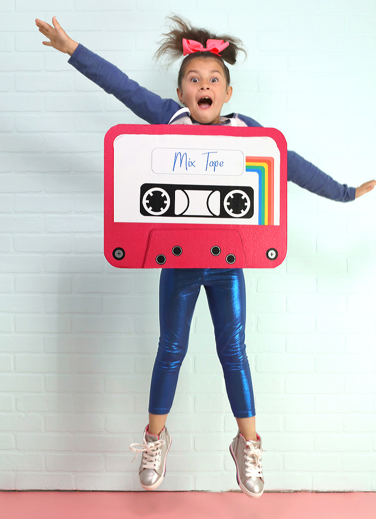 80's mix tape halloween DIY costume idea