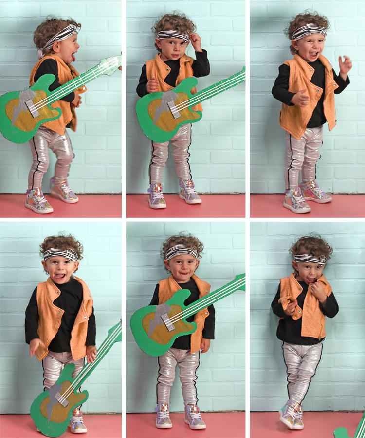 baby 80's rocker halloween costume