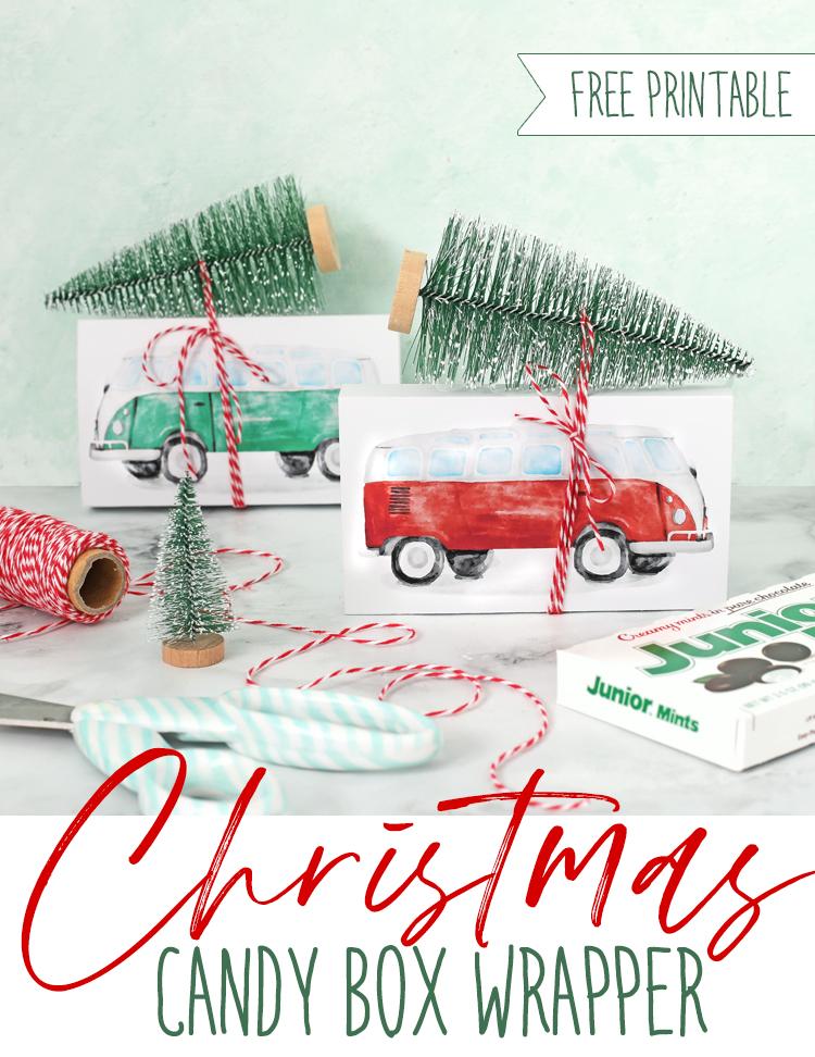christmas candy box wrapper printable