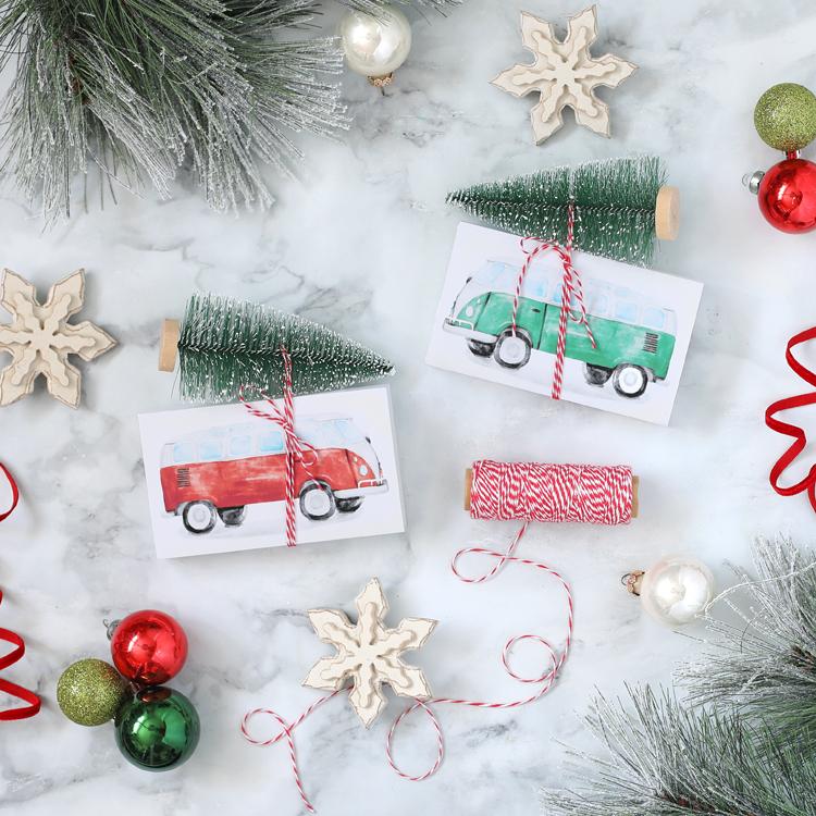 free printable holiday candy box tag