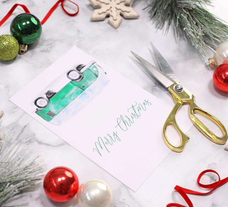 print and cut christmas gift