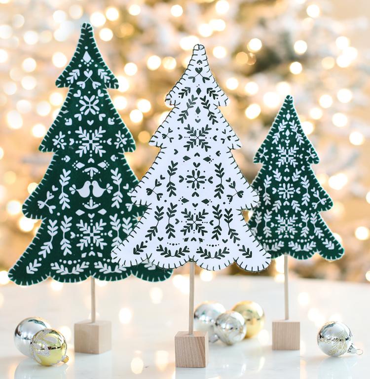 diy scandinavian style felt christmas trees