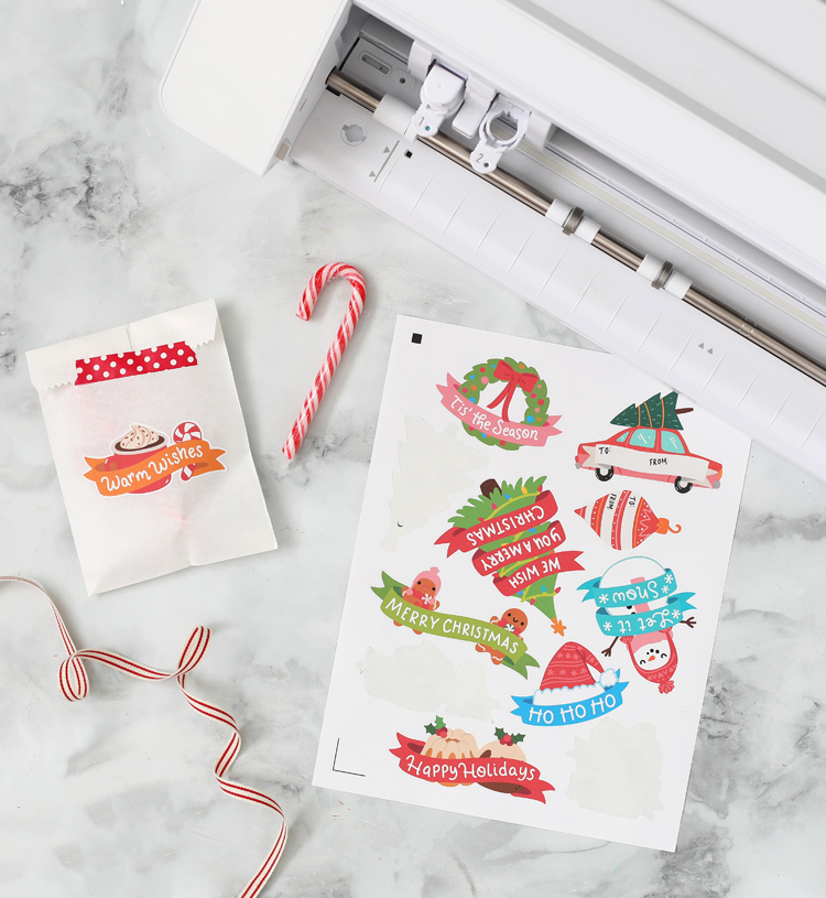 diy stickers silhouette print and cut