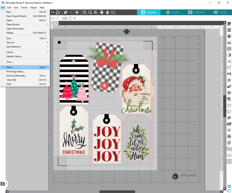 print and cut silhouette cameo