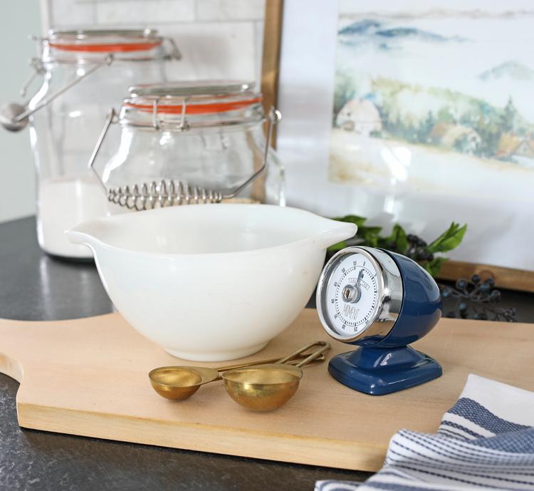 creating a kitchen vignette