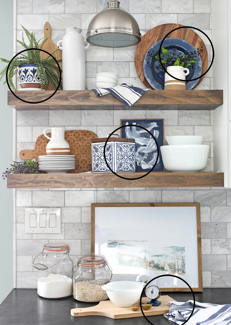 shelf styling tricks distribute color