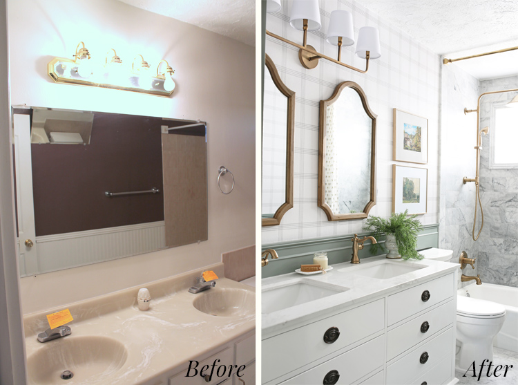 diy bathroom makeover before and after