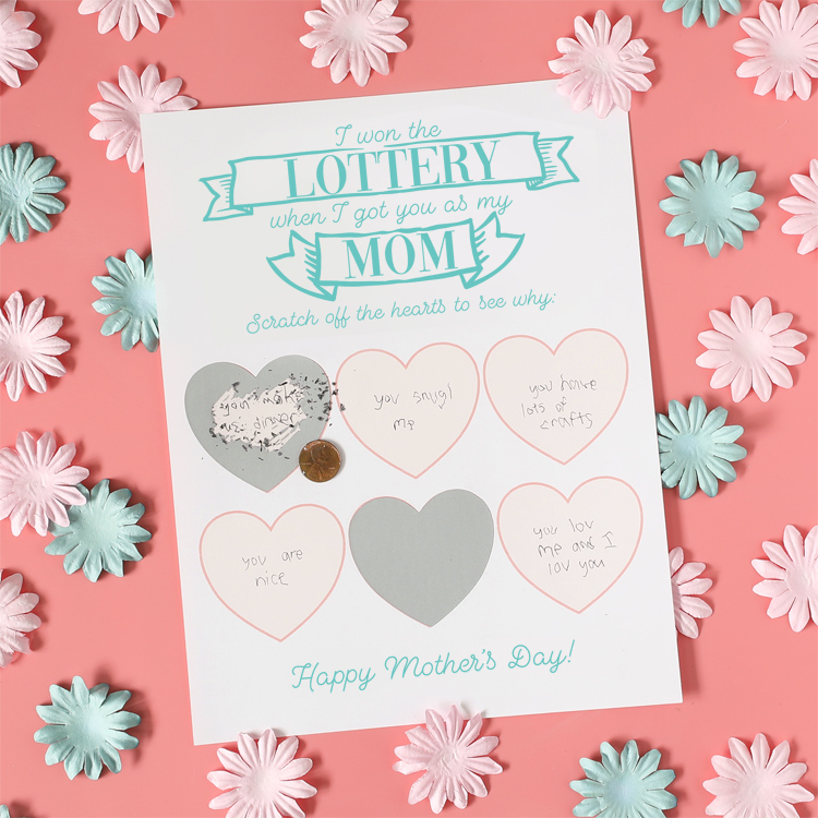 diy scratch off mothers day card