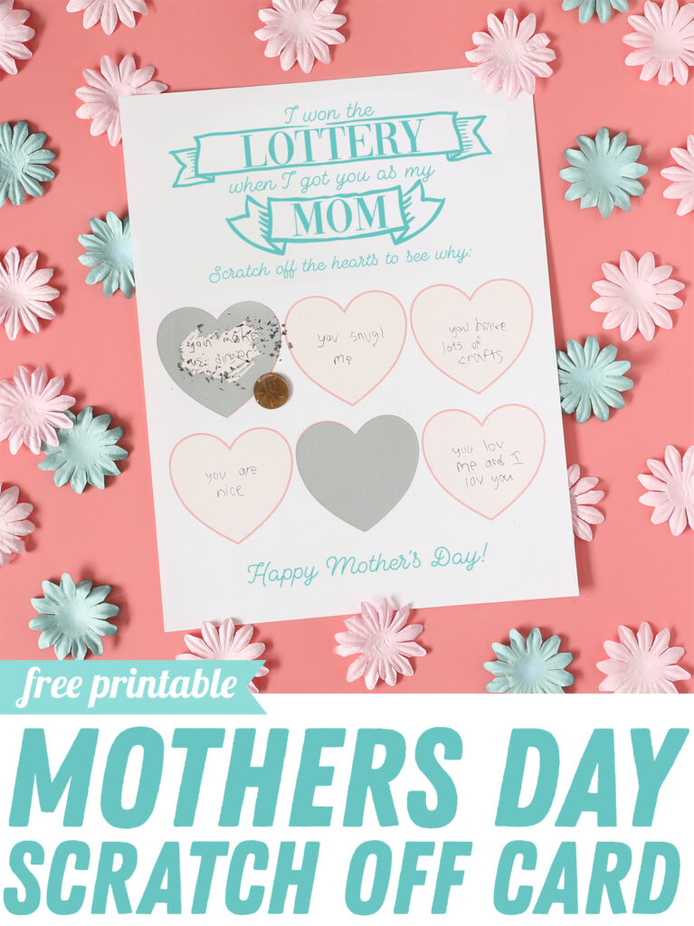 Make these darling DIY scratch off cards for Mothers Day using Silhouette Scratch-Off Sticker Paper. There are other versions for grandma, grandpa and Dad too!