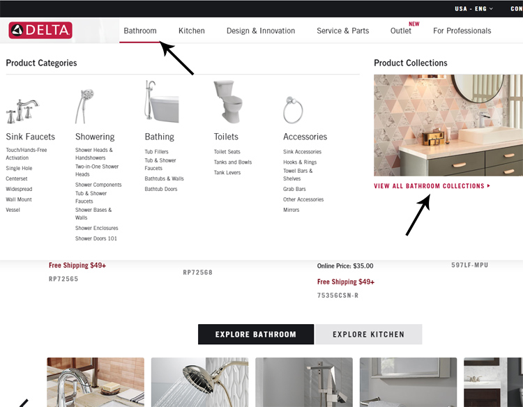 easiest way to buy delta faucets