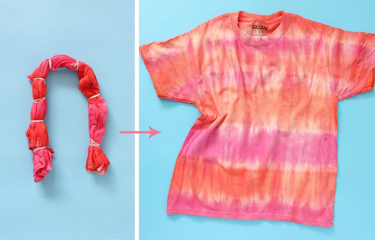 striped tie dye instructions