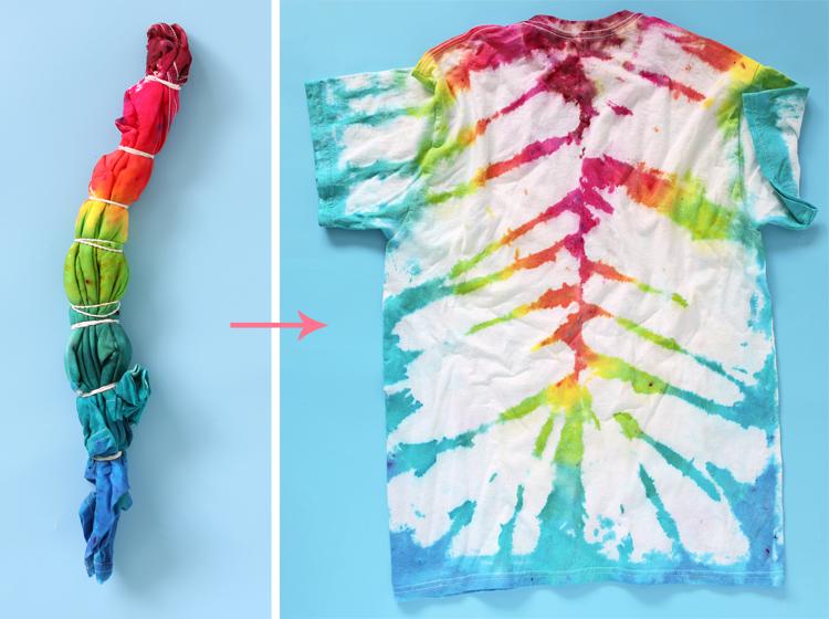 tiger stripes tie dye t shirt