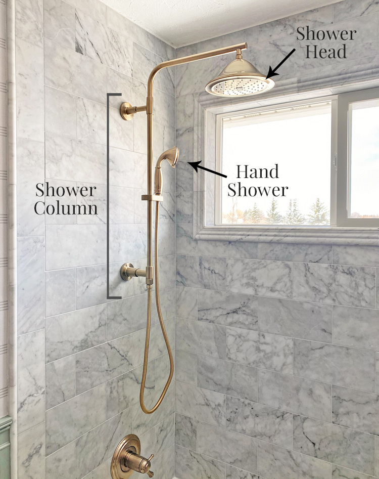 how to install a shower column