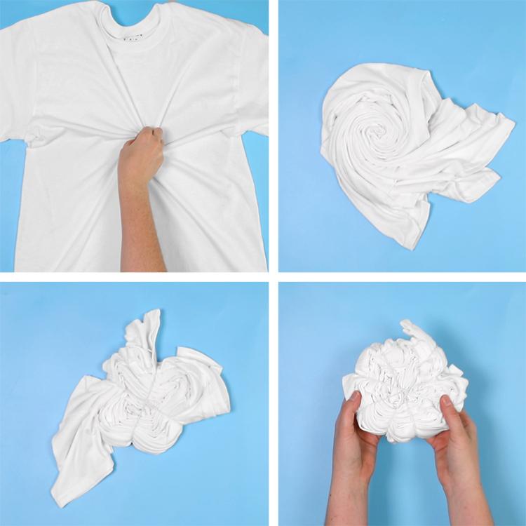 how to fold a swirl tie dye pattern