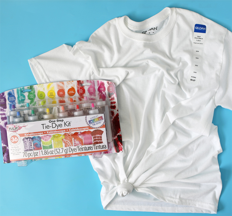 tie dye kits and t shirts