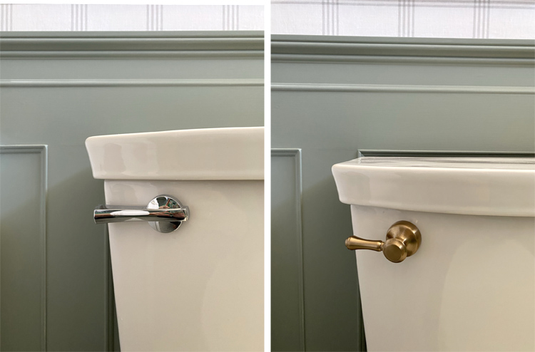 how to switch out the toilet flush handle