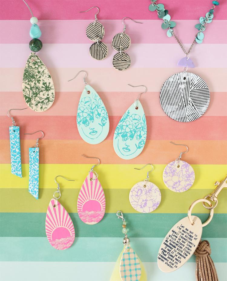 stenciled jewelry