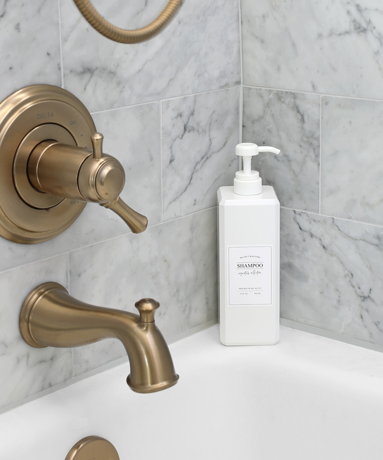 switch out store bought shampoo bottles